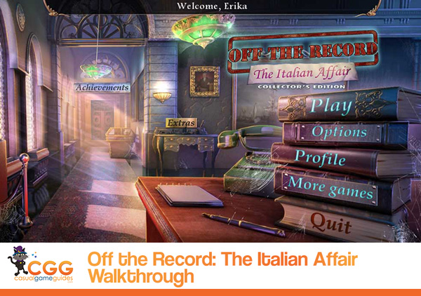 Off the Record The Italian Affair Walkthrough