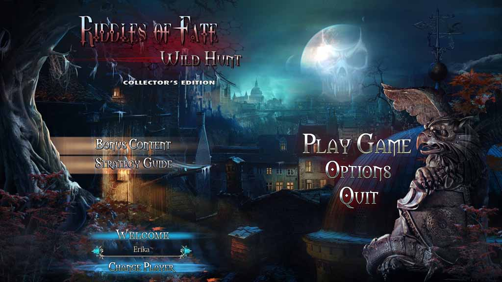 Riddles Of Fate: Wild Hunt Walkthrough: Title Screen