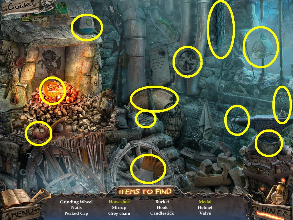 Sable Maze: Sullivan River Walkthrough: Hidden Object Area