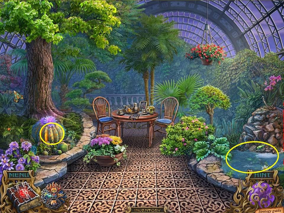 Spirits of mystery the dark minotaur walkthrough for Garden pool crossword