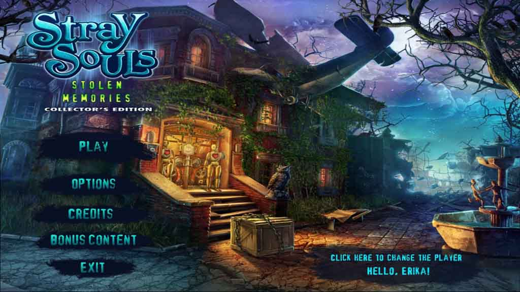 Stray Souls: Stolen Memories Walkthrough: Title Screen