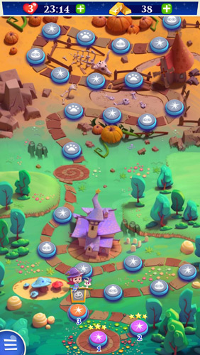 Bubble Witch Saga 2 Map