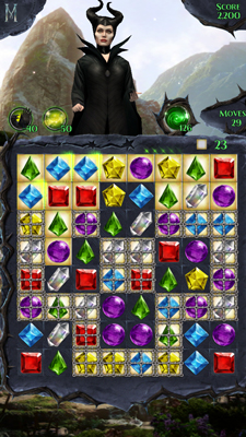 Maleficent Free Fall Gem Board