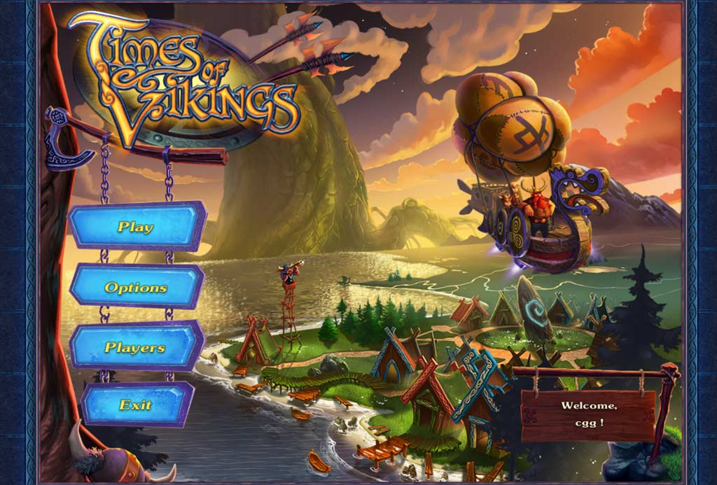 Times of Vikings Walkthrough: Title Screen