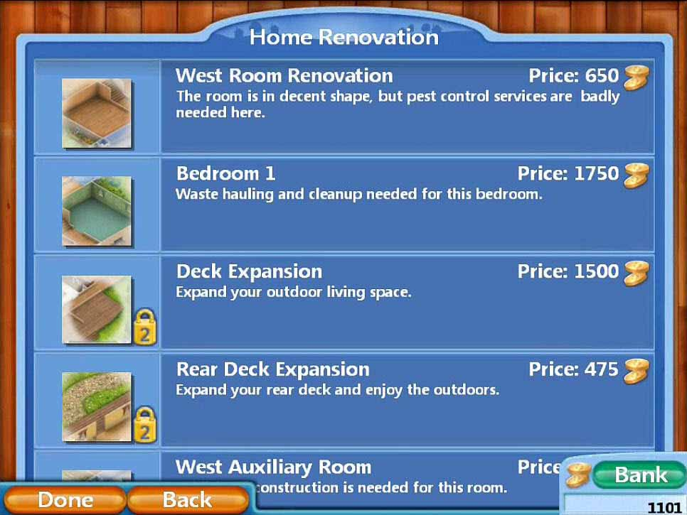 Virtual Families 2: Our Dream House Walkthrough: House Upgrades