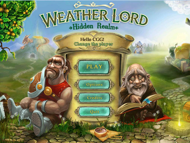 Weather Lord: Hidden Realm Walkthrough: Title Screen