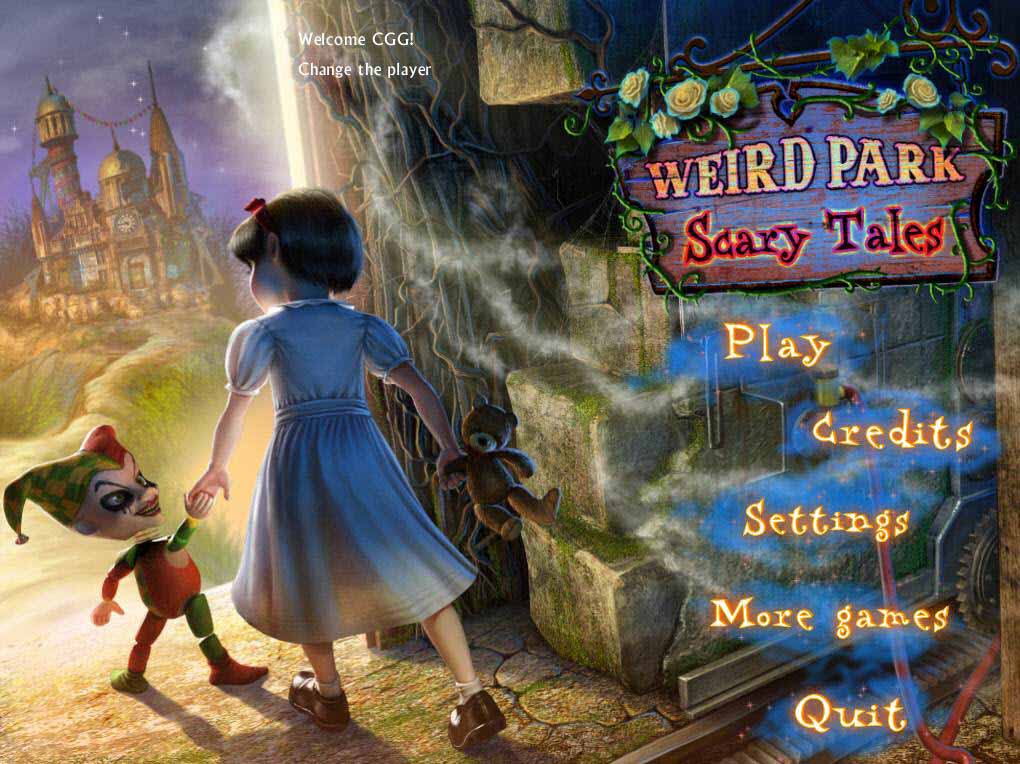 Weird Park: Scary Tales Walkthrough: Title Screen