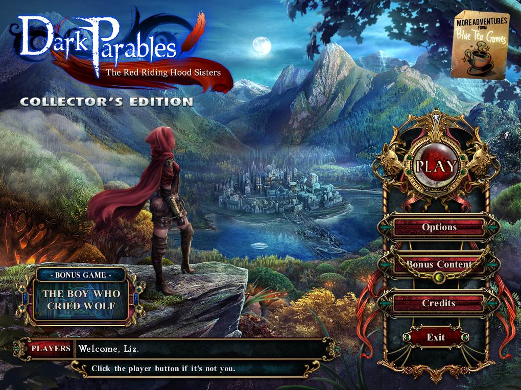 Dark Parables Red Riding Hood Sisters Walkthrough Title Screen