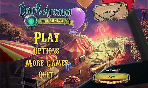 Dark Arcana the Carnival Walkthrough Title