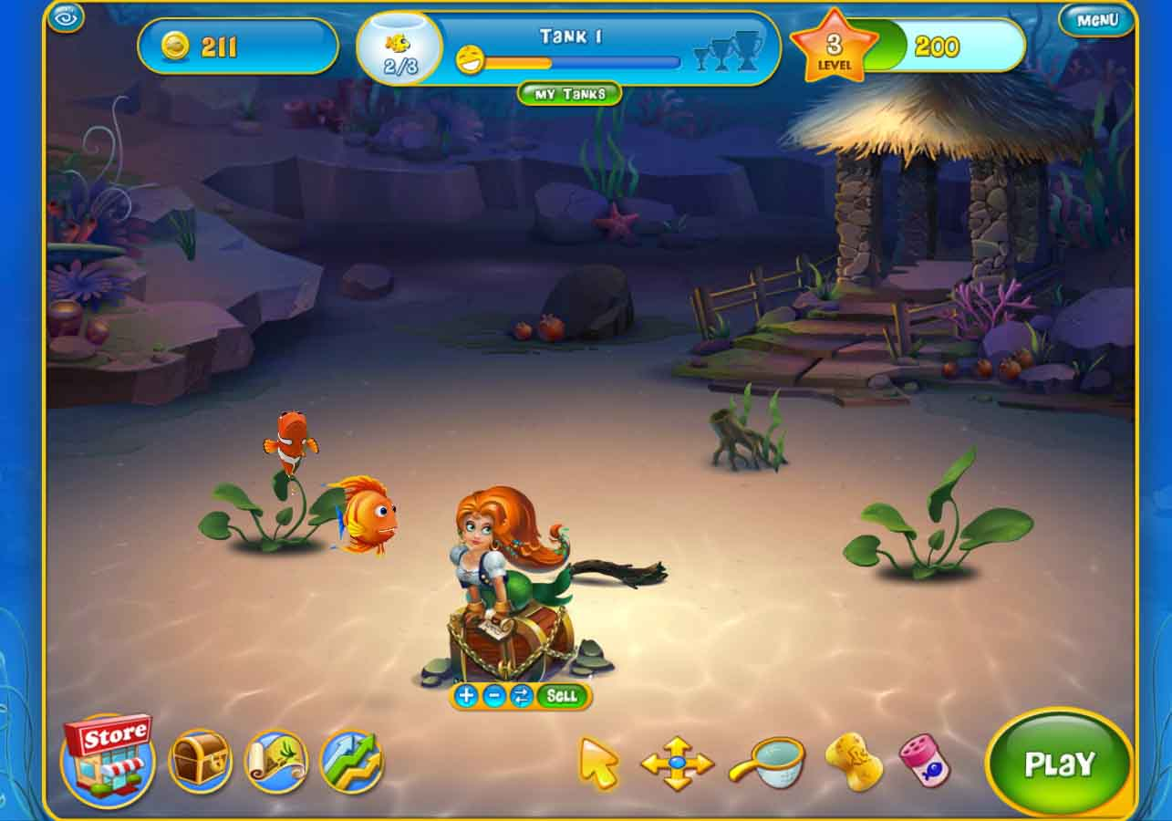 Aquarium fish tank game - With The Money You Earn From The Match 3 Game You Can Buy Toys Scenery And Even Other Fish To Make Your Tank More Homey For Your New Friends