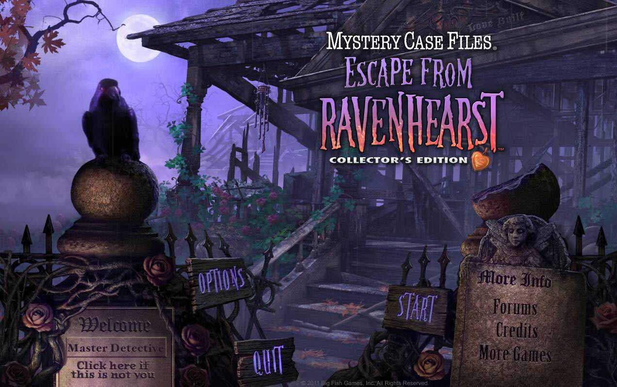 Mystery Case Files Return to Ravehearst