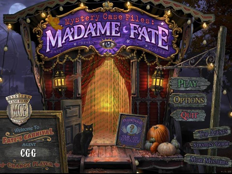 Mystery Case Files Madame Fate Review - Title Screen