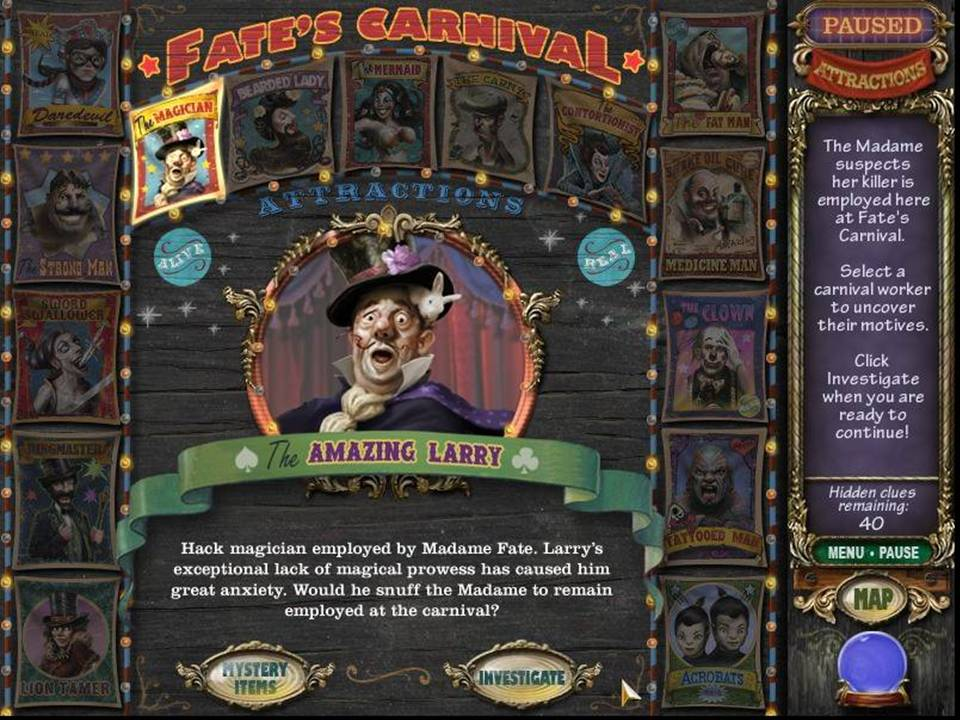Mystery Case Files Madame Fate - Larry