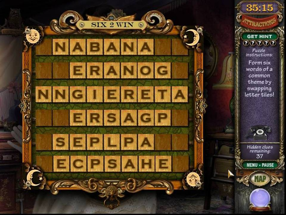 Mystery Case Files Madame Fate - Word Game