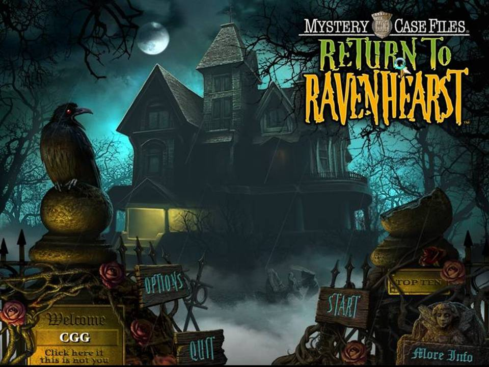 Mystery Case Files Return Ravenhearst Review title screen