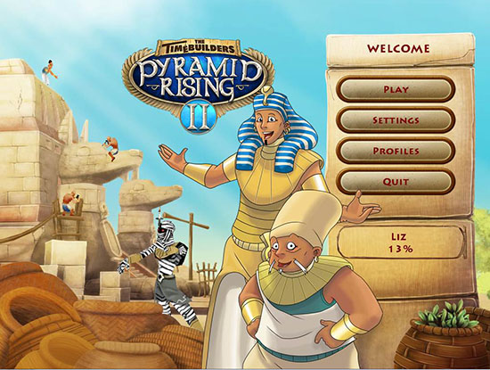 Timebuilders Pyramid Rising 2 Walkthrough Title Screen