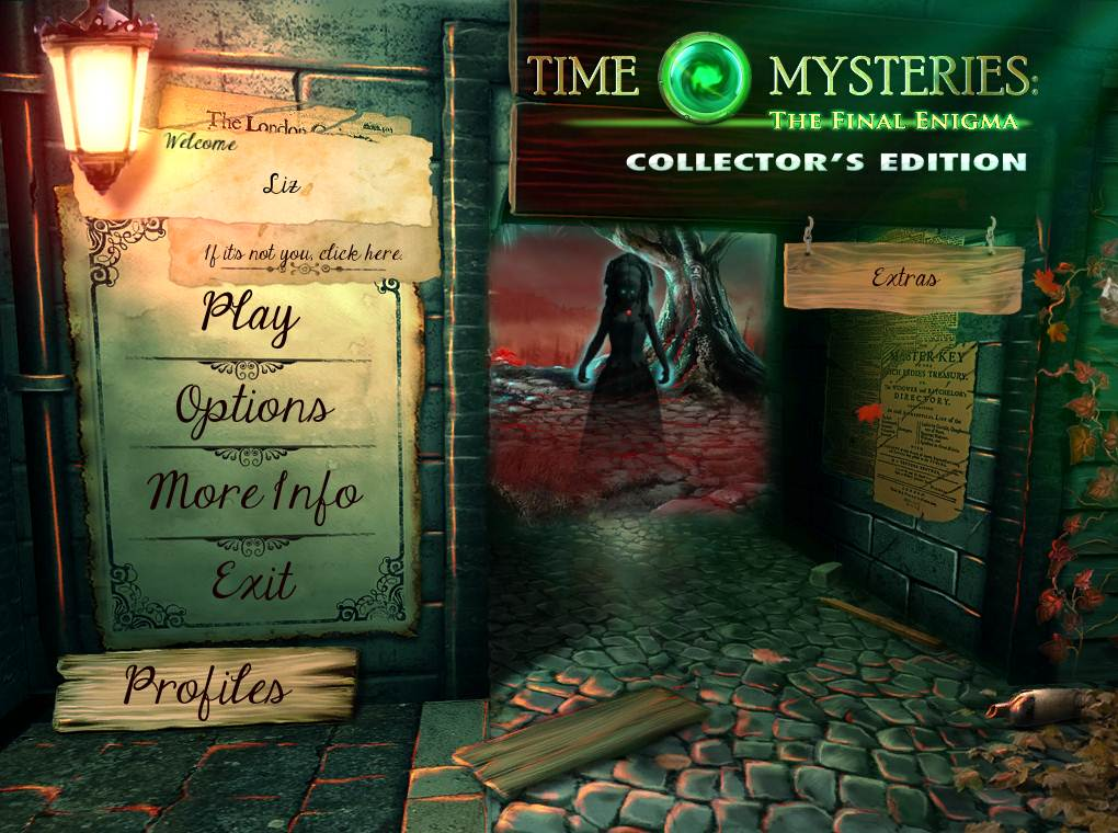 Time Mysteries: The Final Enigma Walkthrough: Title Screen
